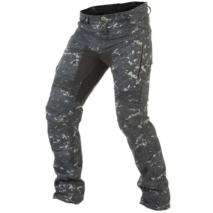 Trilobite moteur Cuissard Dual Pants Cargo Jeans Beige Zip-up Mollet amovible